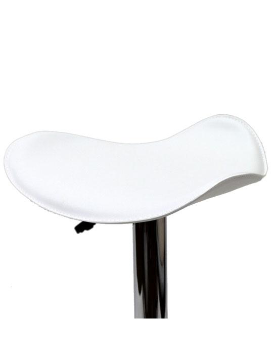 White Leather Terra Bar Stool 5