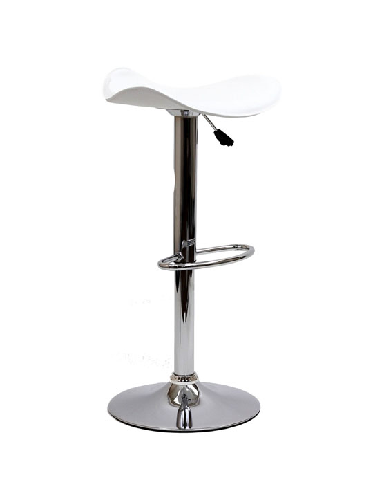 White Leather Terra Bar Stool