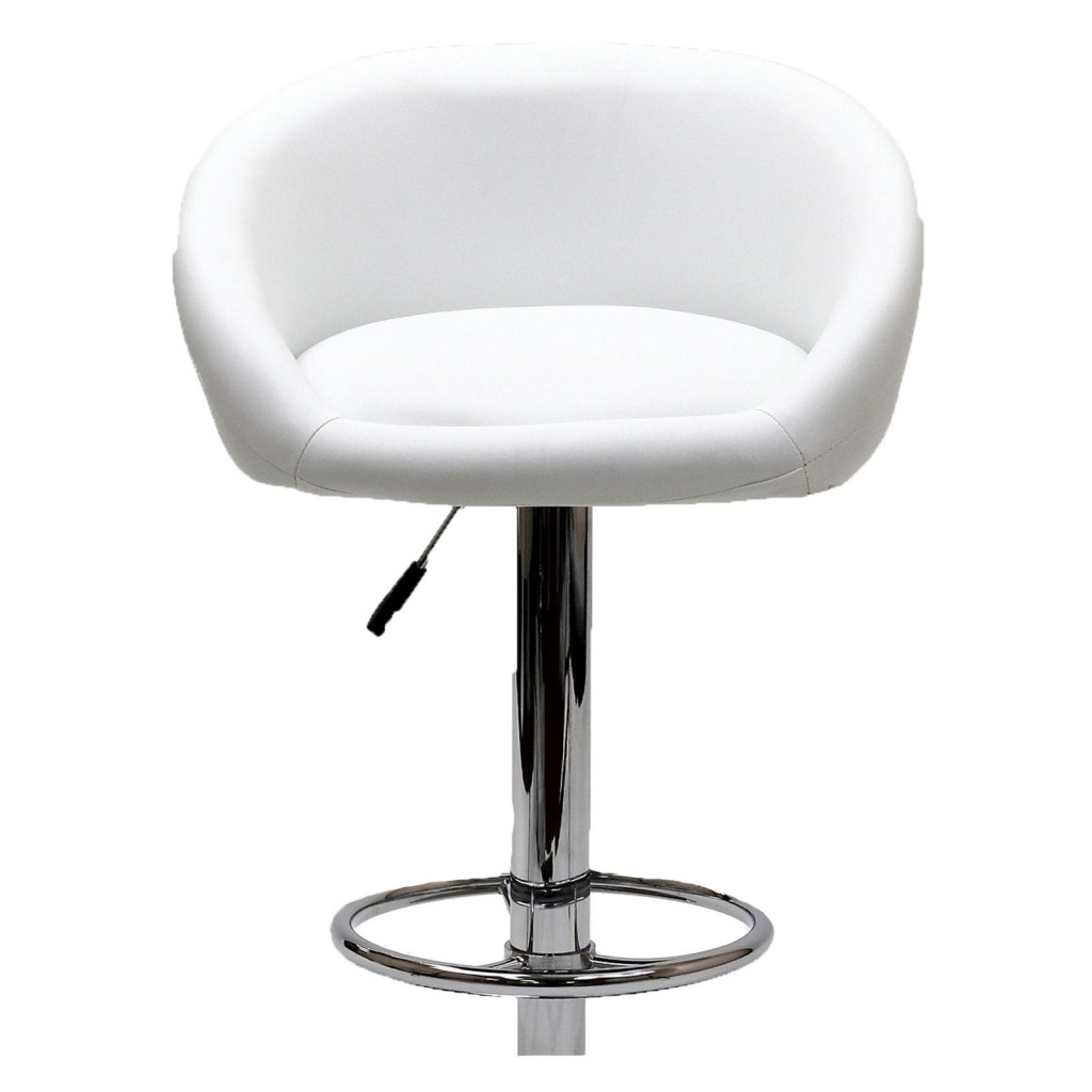 White Plush Barstool 3