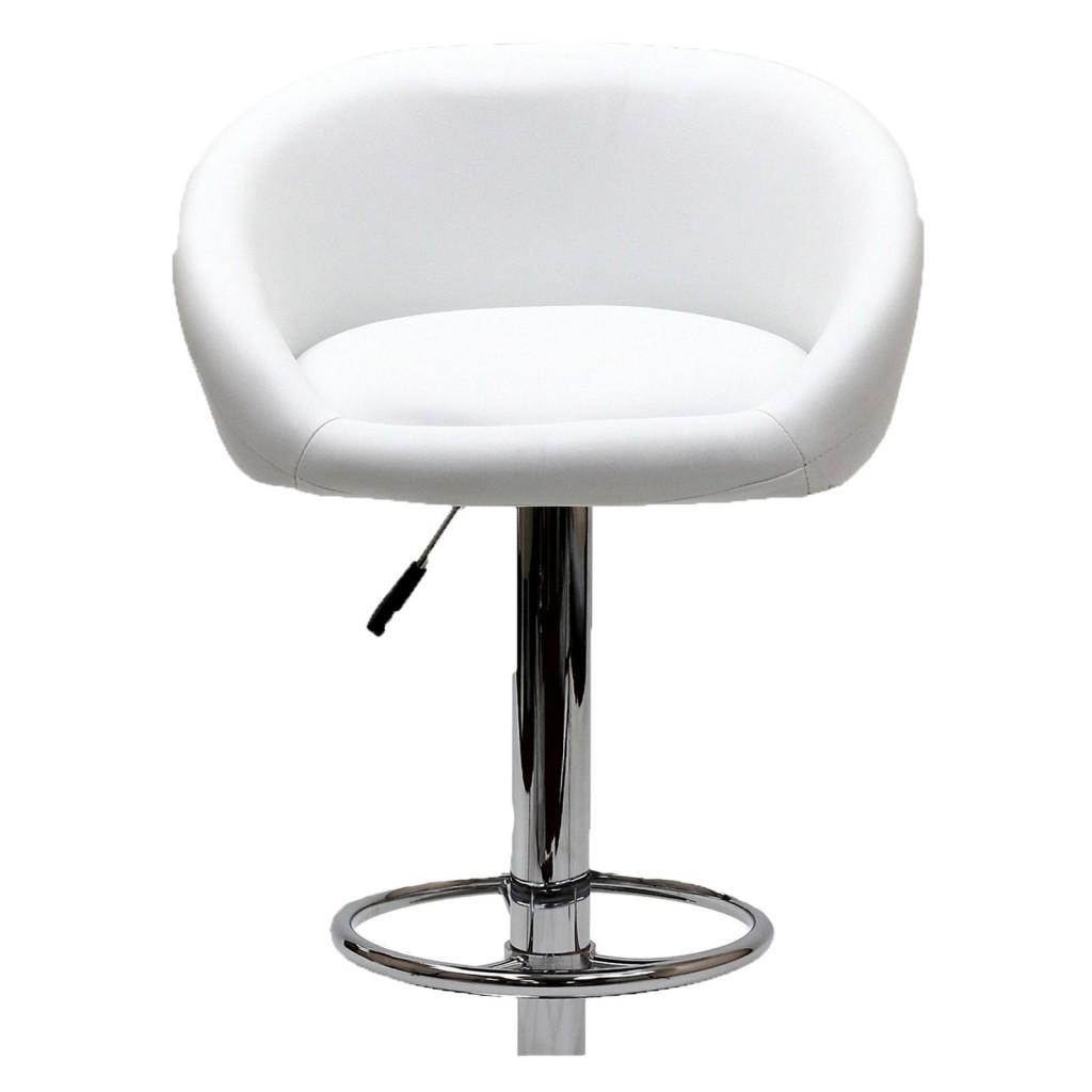 White Plush Barstool 3