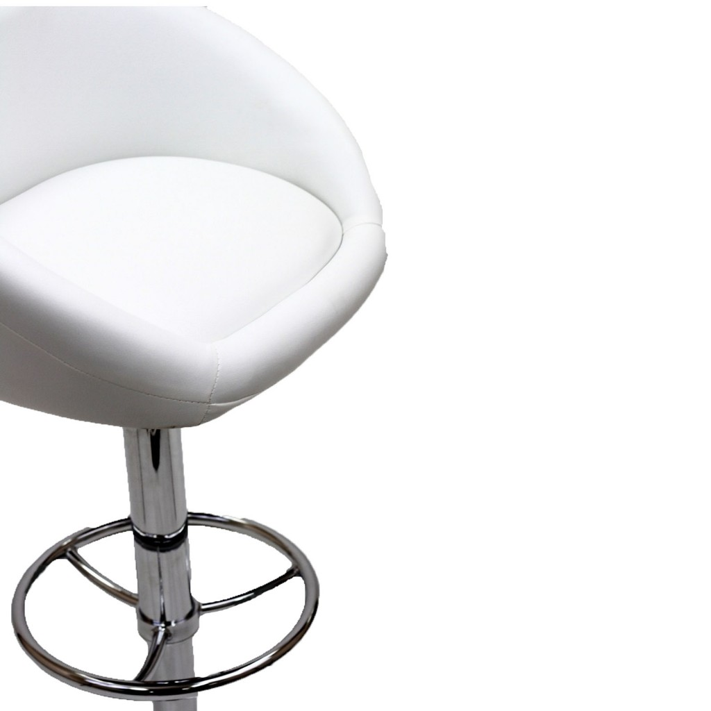 White Plush Barstool 4