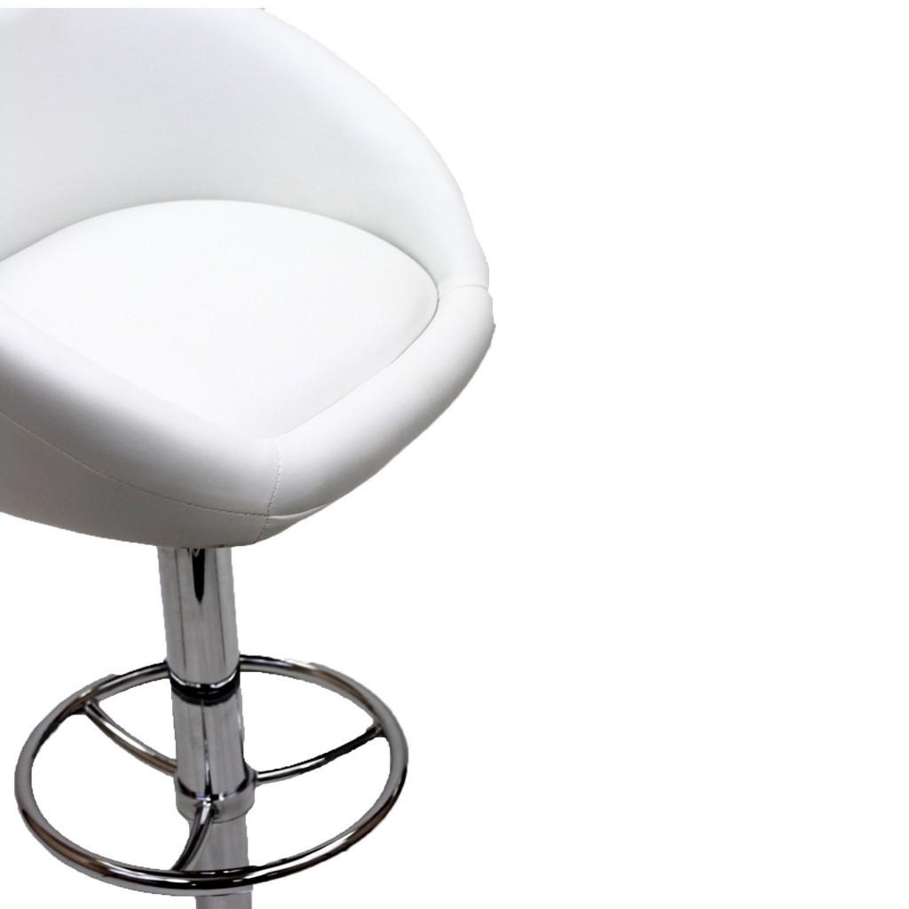 White Plush Barstool 4