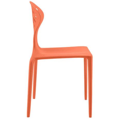 orange plastic chair stone 461x461