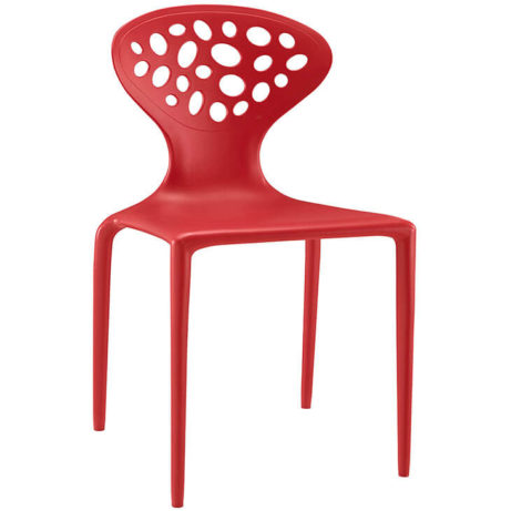 red plastic chair stone 461x461
