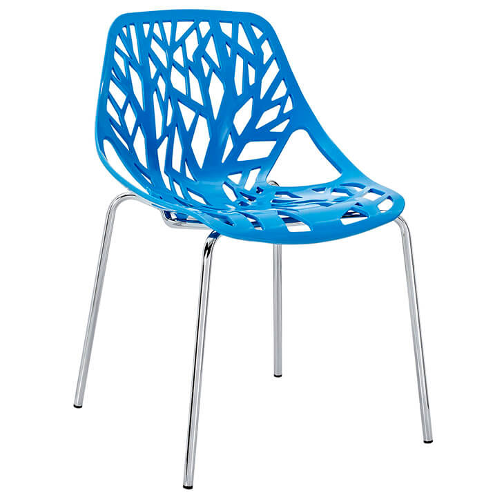 set of blue plastic chair