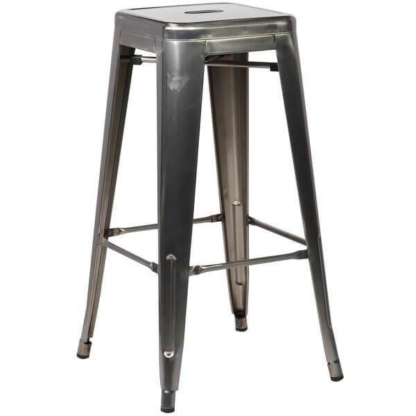 stainless steel metal barstool