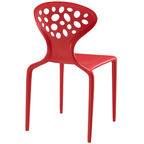 stone chair red plastic 461x461