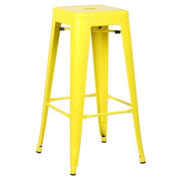 tonic barstool lemon yellow