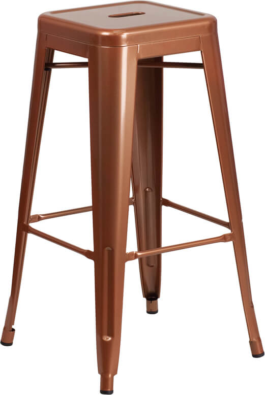 tonic metal barstool copper