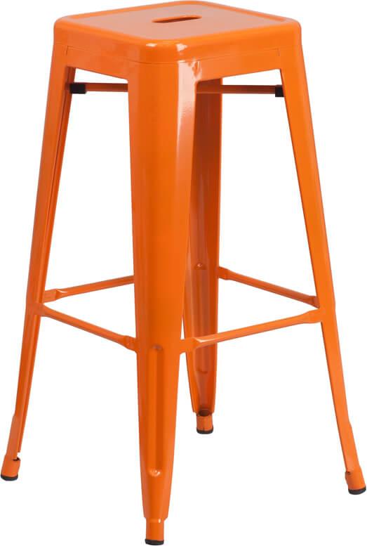 tonic metal barstool orange
