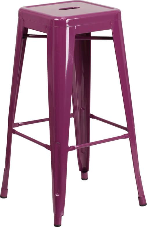 tonic metal barstool purple