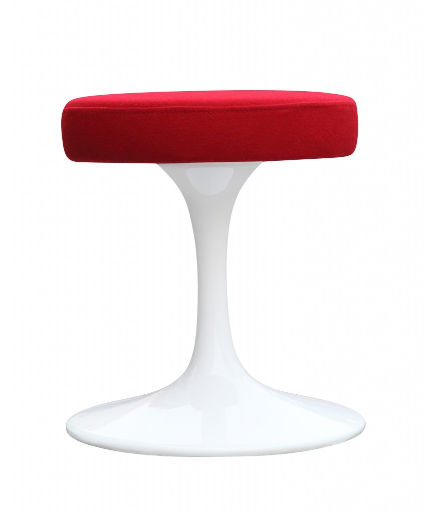 60s Stool Red 1