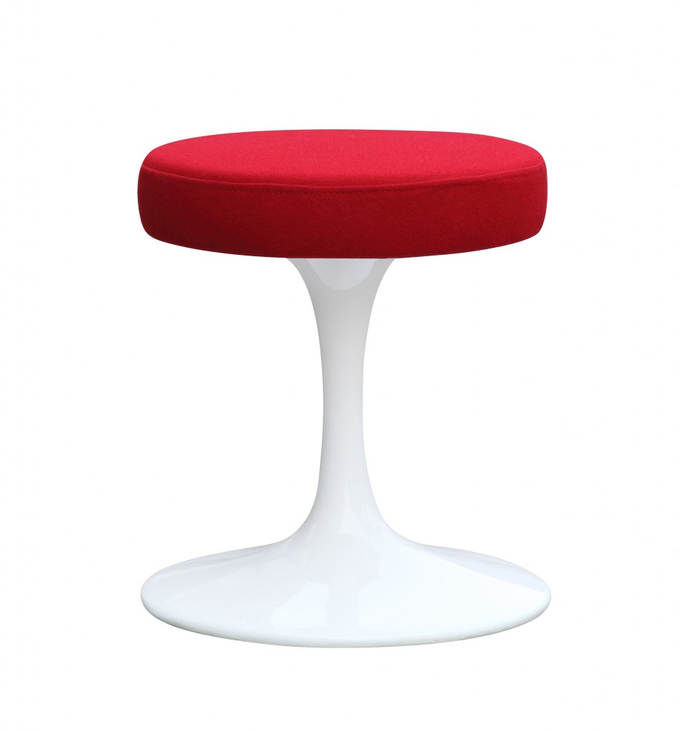 60s Stool Red 6