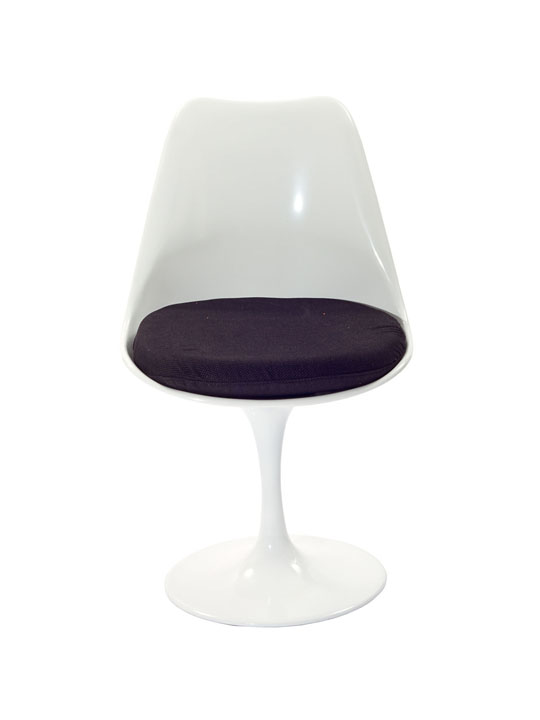 Astro Chair White Shell Black Cushion