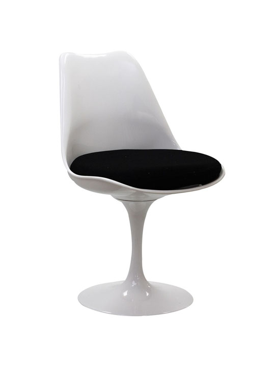 Astro Chair White Shell Black Cushion 2