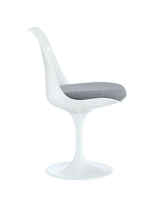 Astro Chair White Shell Gray Cushion 2