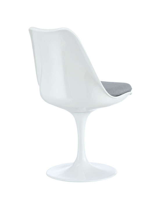 Astro Chair White Shell Gray Cushion 3