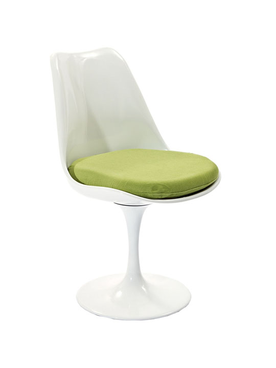 Astro Chair White Shell Green Cushion 2