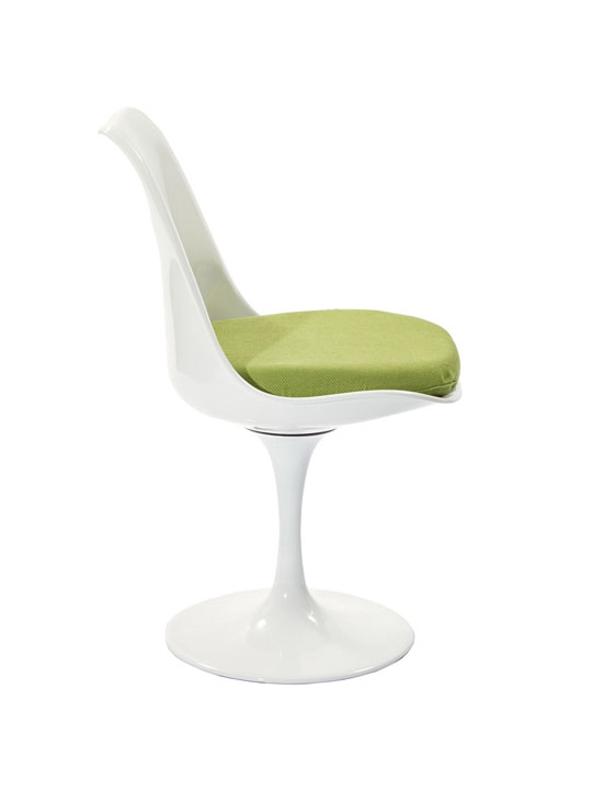 Astro Chair White Shell Green Cushion 3