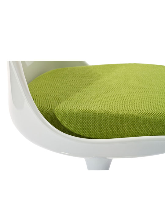 Astro Chair White Shell Green Cushion 4