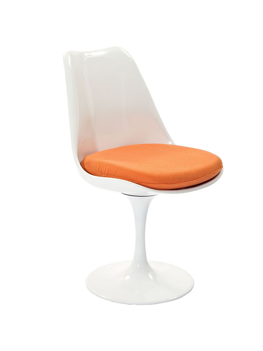 Astro Chair White Shell Orange Cushion 2