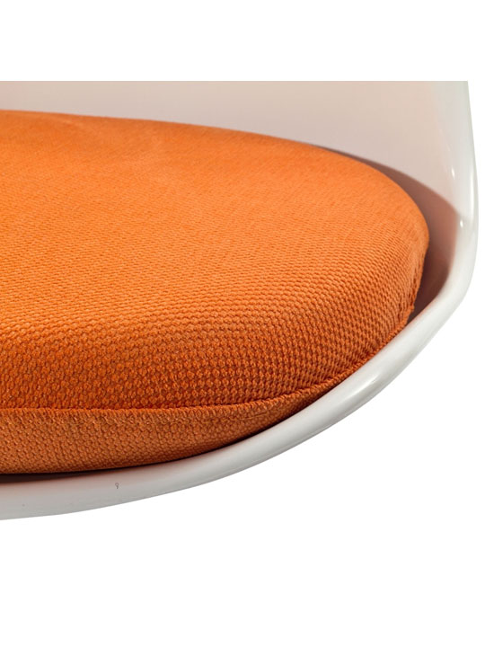 Astro Chair White Shell Orange Cushion 4