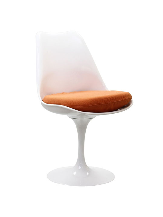Astro Chair White Shell Orange Cushion 5