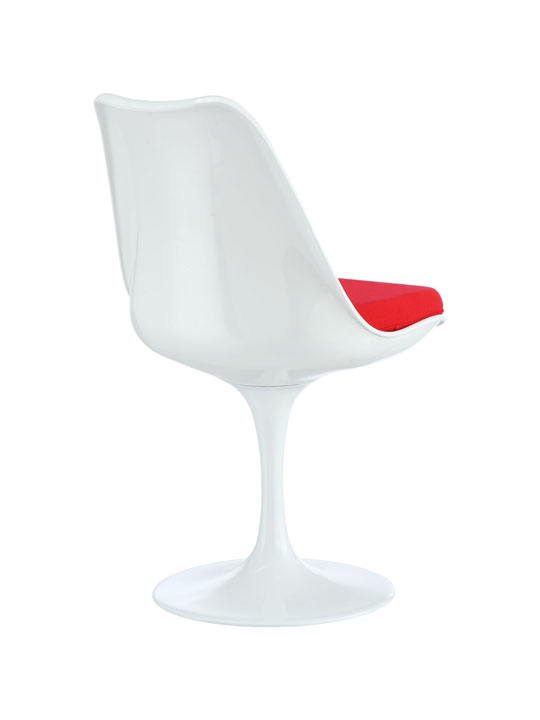 Astro Chair White Shell Red Cushion 3