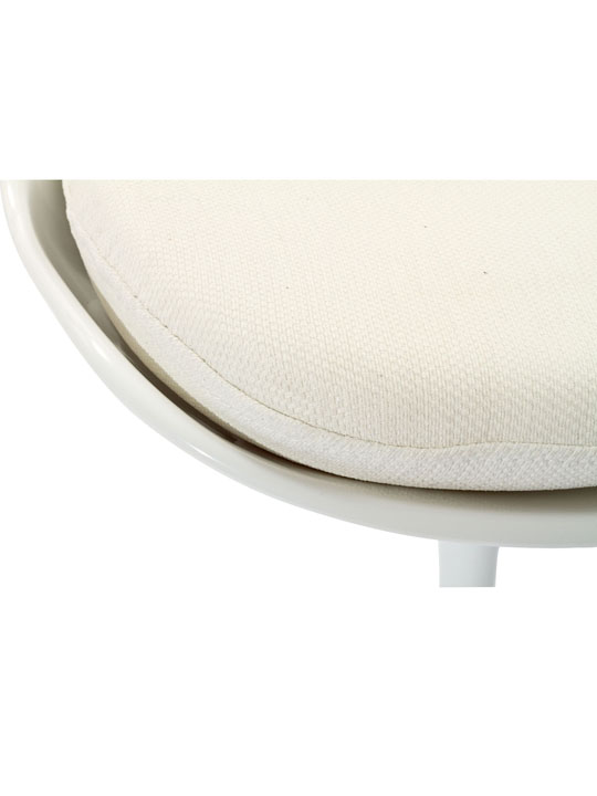 Astro Chair White Shell White Cushion 4