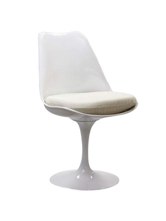 Astro Chair White Shell White Cushion 5