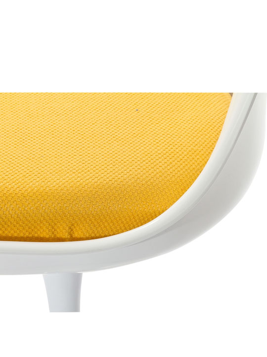 Astro Chair White Shell Yellow Cushion 4