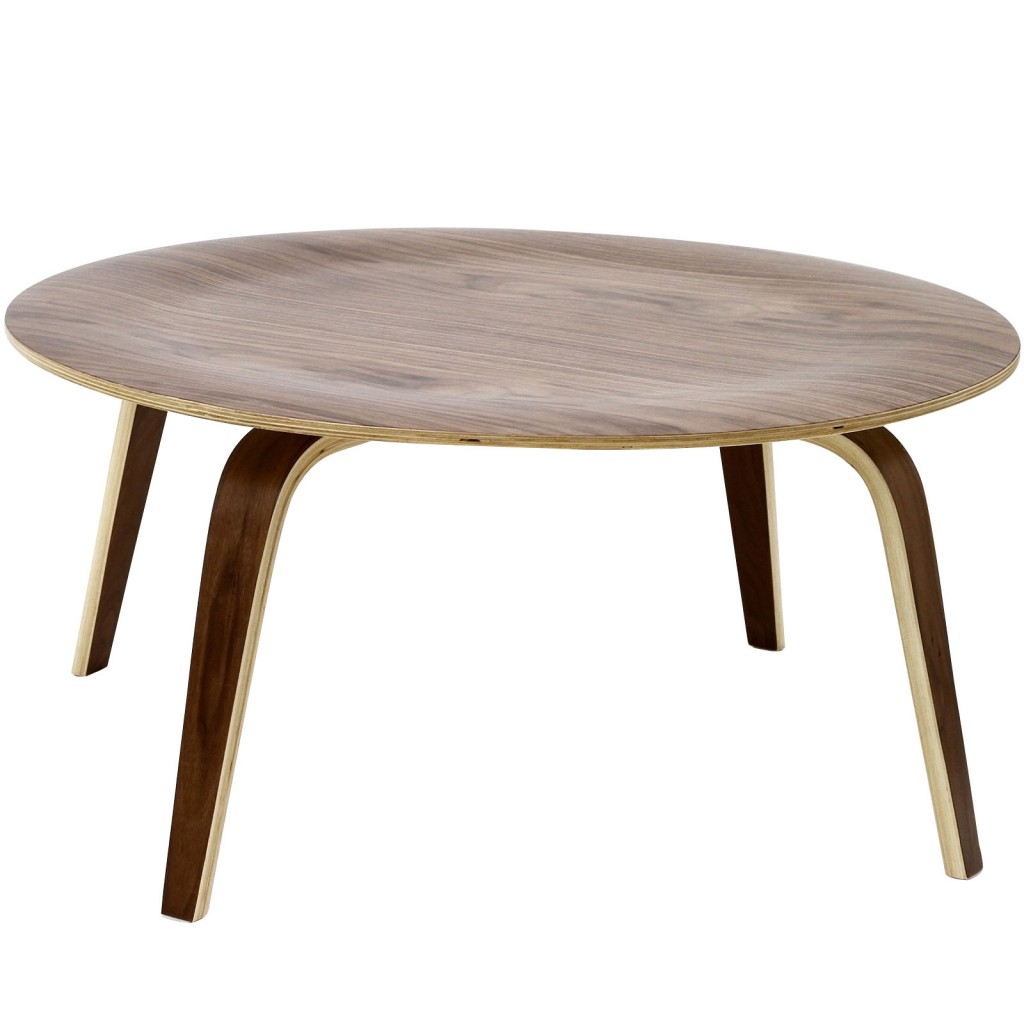 Bamboo Coffee Table Walnut Wood