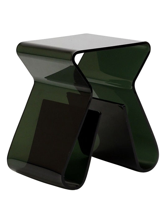 Black Acrylic Side Table 3