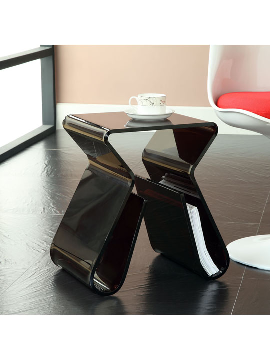 Black Acrylic Side Table 4