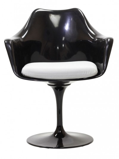 Black Astro Armchair White Cushion e1435091206807