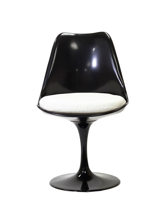 Black Astro Chair White Cushion 3