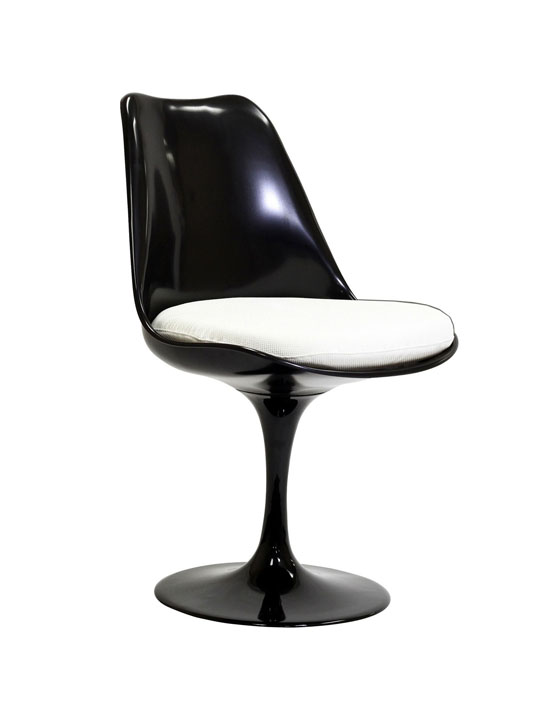 Black Astro Chair White Cushion