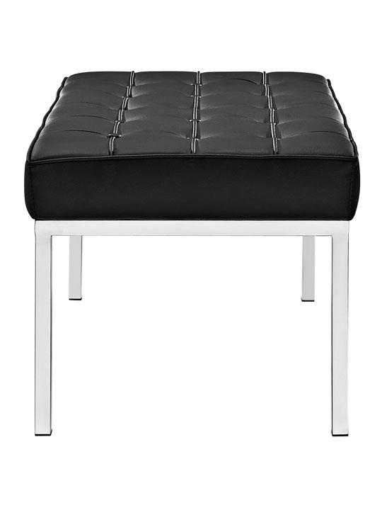 Black Leather Gallery Bench Medium 3