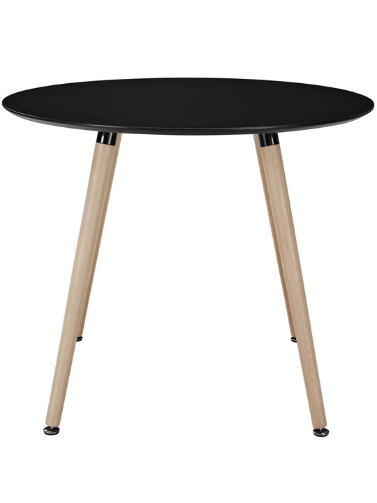 Black Ombre Wood Circle Dining Table 2
