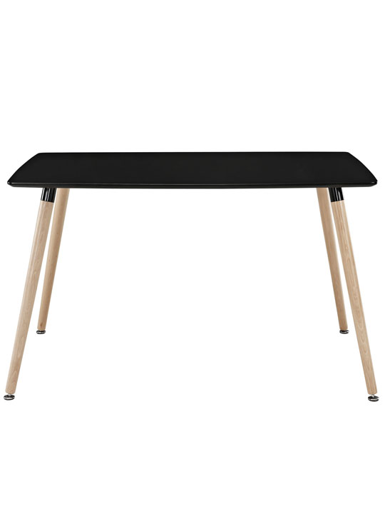 Black Ombre Wood Rectangle Dining Table 2
