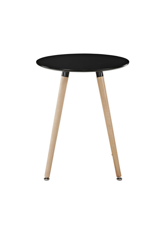 Black Ombre Wood Side Table 2