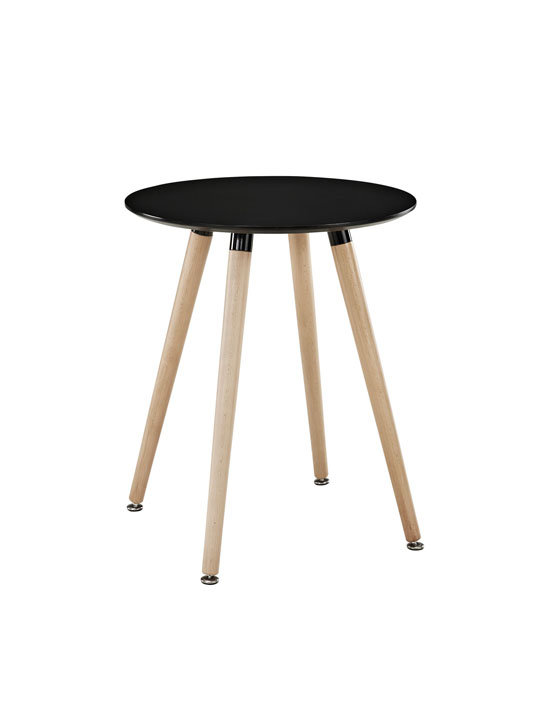 Black Ombre Wood Side Table