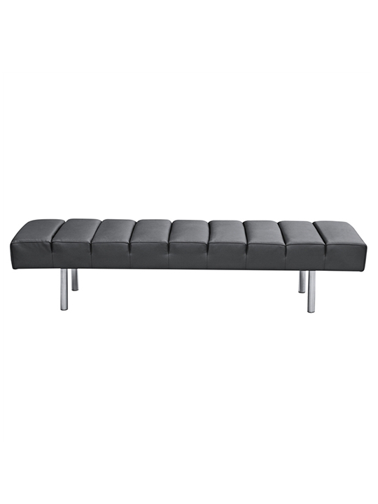 Black Paragon 3 Seater Bench1