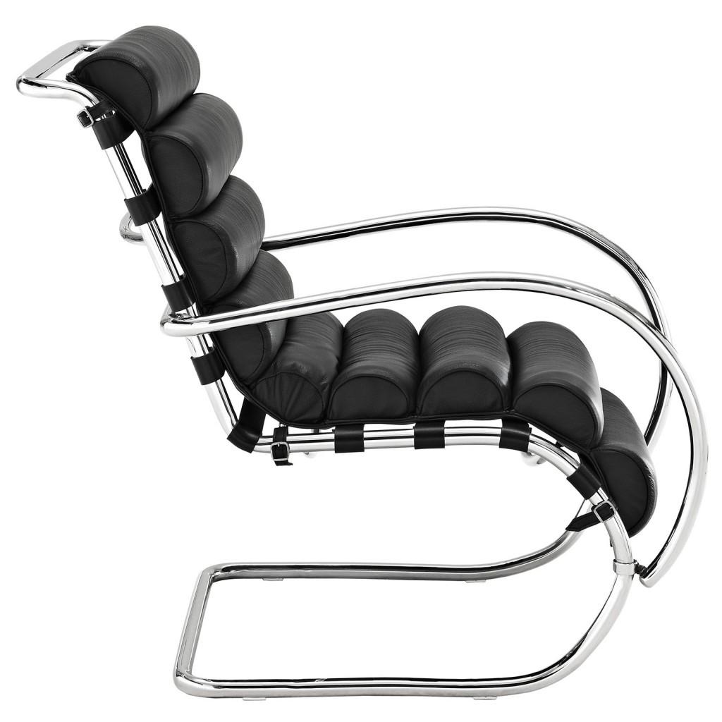 Black Plush Armchair 2