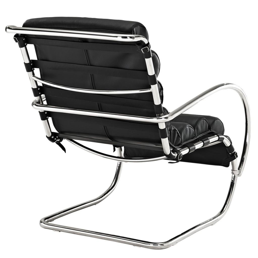 Black Plush Armchair 21