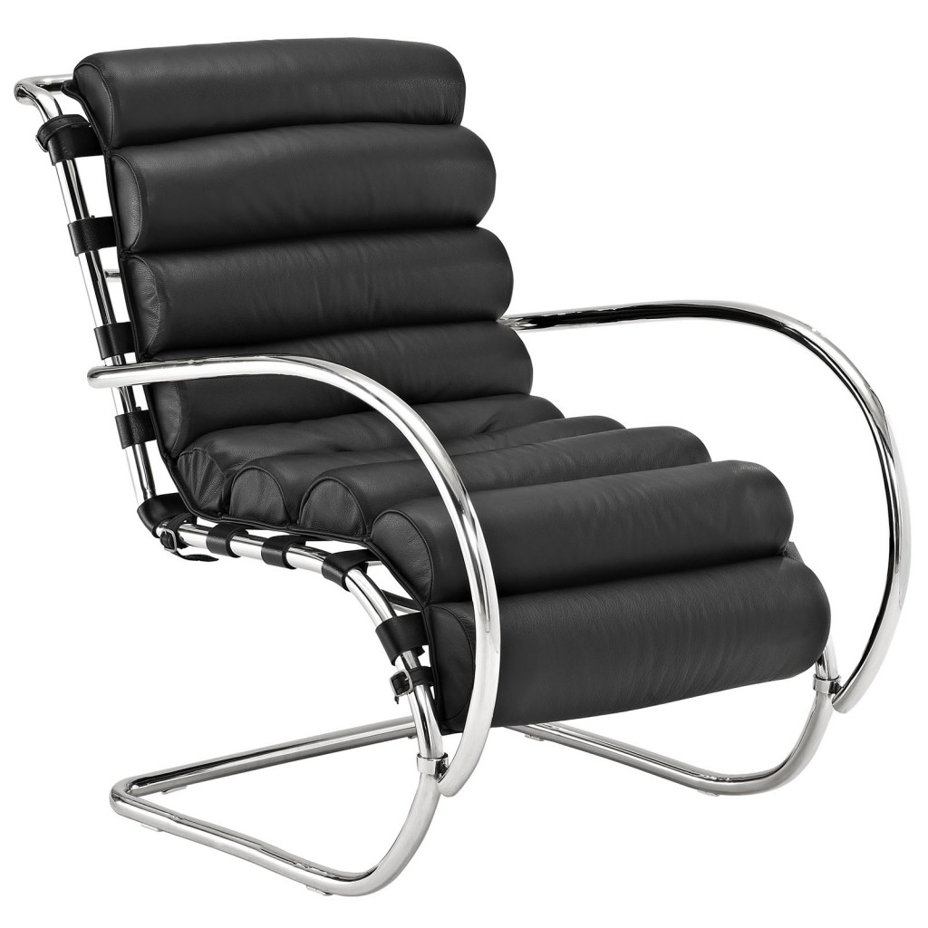 Black Plush Armchair