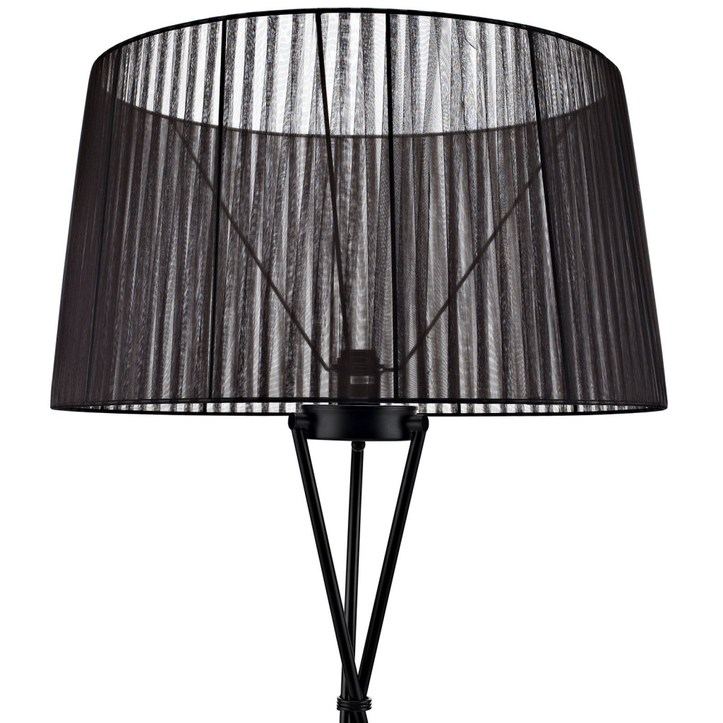 Black Silk Floor Lamp 2