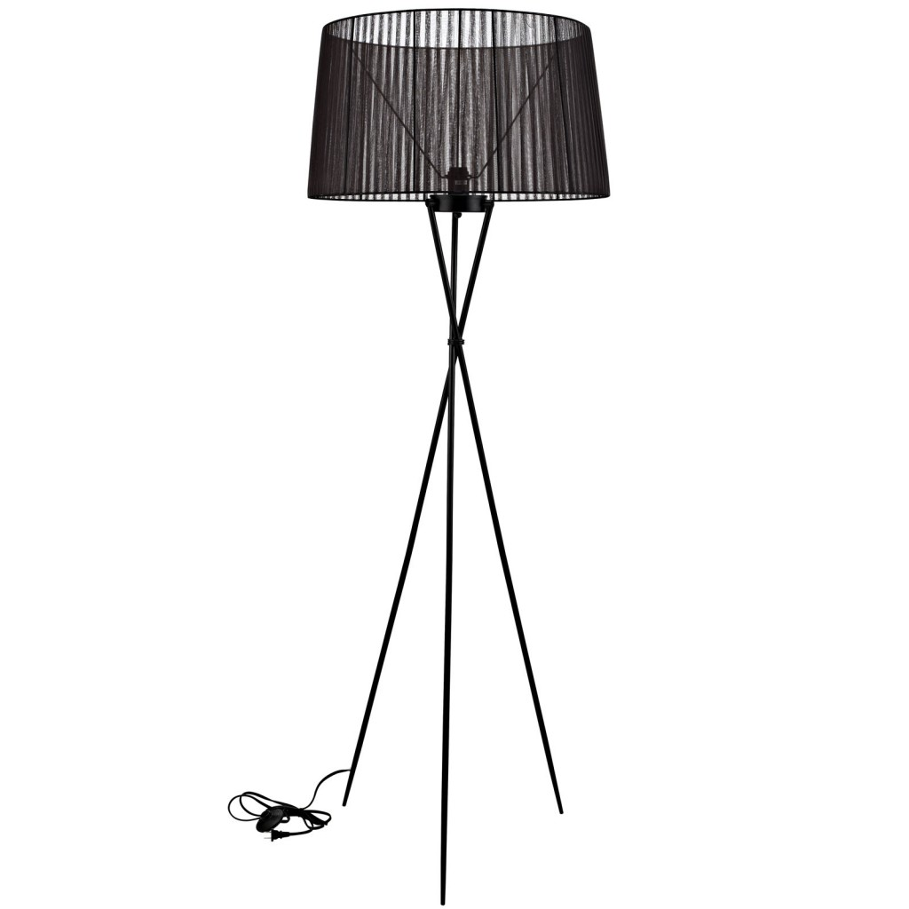 Black Silk Floor Lamp