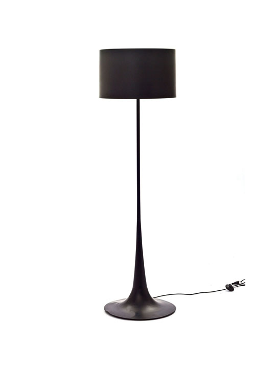 Black Top Floor Lamp
