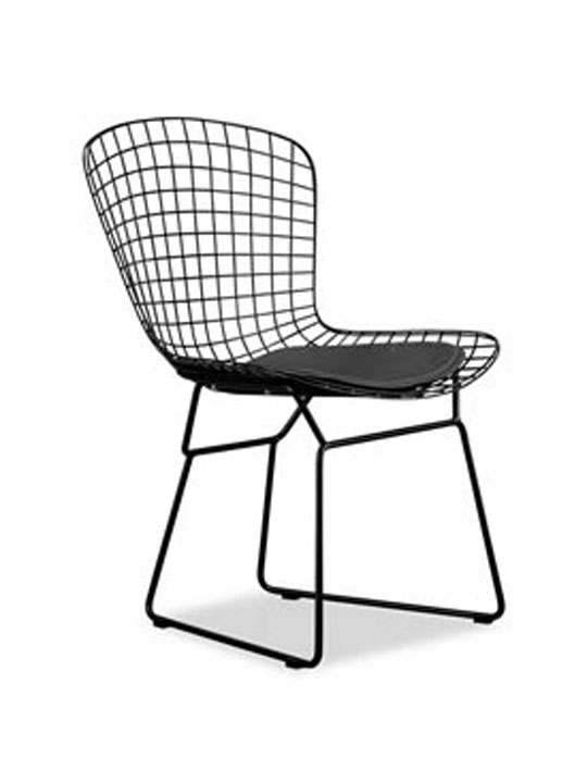 Perfect Black Wire Dyson Chair | Brickell Collection Modern Furniture CO27